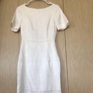 H&M midi white pencil dress